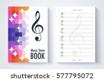 music stave template  blank... | Shutterstock .eps vector #577795072