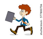 ridiculous caricature ... | Shutterstock .eps vector #577800706