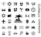 vacation icons set.vector... | Shutterstock .eps vector #577806712