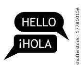 speaking spanish icon. simple... | Shutterstock .eps vector #577810156