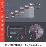 stethoscope heart creative... | Shutterstock .eps vector #577811632