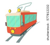tram icon. cartoon illustration ... | Shutterstock .eps vector #577812232
