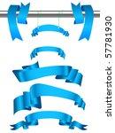 set of blue ribbons.vector... | Shutterstock .eps vector #57781930