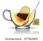 vector image of a tea bag in... | Shutterstock .eps vector #57782005