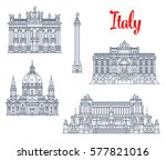 italy famous sightseeing... | Shutterstock .eps vector #577821016