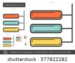 data structure vector line icon ... | Shutterstock .eps vector #577822282