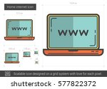 home internet vector line icon... | Shutterstock .eps vector #577822372