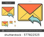 reply vector line icon isolated ... | Shutterstock .eps vector #577822525
