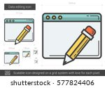 data editing vector line icon... | Shutterstock .eps vector #577824406