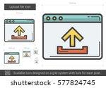 upload file vector line icon... | Shutterstock .eps vector #577824745