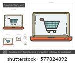 online shopping vector line... | Shutterstock .eps vector #577824892