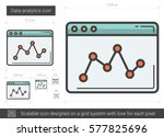 data analytics vector line icon ... | Shutterstock .eps vector #577825696