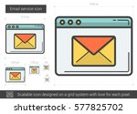 email service vector line icon... | Shutterstock .eps vector #577825702