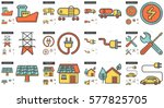 ecology vector line icon set... | Shutterstock .eps vector #577825705