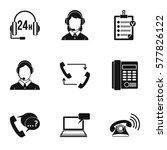 online support icons set.... | Shutterstock . vector #577826122