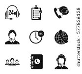 technical support icons set.... | Shutterstock . vector #577826128