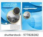 abstract vector modern flyers... | Shutterstock .eps vector #577828282