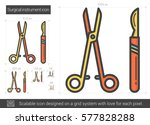 surgical instruments vector... | Shutterstock .eps vector #577828288