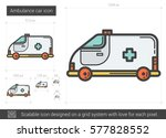 ambulance car vector line icon... | Shutterstock .eps vector #577828552