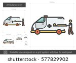 ambulance vector line icon... | Shutterstock .eps vector #577829902