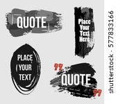 vector quote collection. hand... | Shutterstock .eps vector #577833166