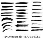 set of black paint  ink brush... | Shutterstock .eps vector #577834168
