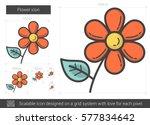 flower vector line icon... | Shutterstock .eps vector #577834642