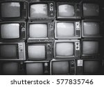 pattern wall of pile black and... | Shutterstock . vector #577835746
