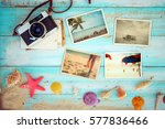 top view composition   summer... | Shutterstock . vector #577836466