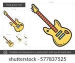 rock guitar vector line icon... | Shutterstock .eps vector #577837525