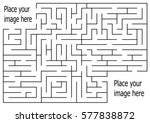 rectangle labyrinth with entry... | Shutterstock .eps vector #577838872
