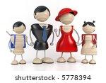 big family 3d model | Shutterstock . vector #5778394