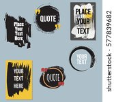 vector quote collection. hand... | Shutterstock .eps vector #577839682