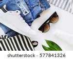 fashion blogger concept.... | Shutterstock . vector #577841326