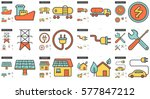 ecology vector line icon set... | Shutterstock .eps vector #577847212