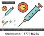 anesthesia vector line icon...   Shutterstock .eps vector #577848256