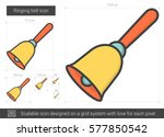ringing bell vector line icon... | Shutterstock .eps vector #577850542