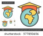study abroad vector line icon... | Shutterstock .eps vector #577850656