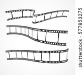 collection of vector film strips | Shutterstock .eps vector #577853275