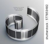 3d film strip vector background | Shutterstock .eps vector #577853482