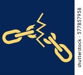 broken chain vector icon. flat... | Shutterstock .eps vector #577857958