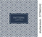 abstract hexagonal line pattern ... | Shutterstock .eps vector #577860142