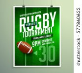 rugby league game flyer design... | Shutterstock .eps vector #577860622