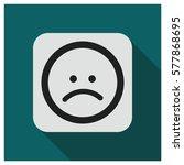 sad face emoji vector icon | Shutterstock .eps vector #577868695