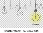 sketch bulb   idea  at... | Shutterstock .eps vector #577869535