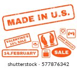 made in u.s. text rubber seal... | Shutterstock .eps vector #577876342