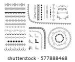 big set of decorative elements  ... | Shutterstock .eps vector #577888468