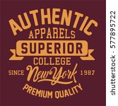 new york athletic typography  t ... | Shutterstock .eps vector #577895722