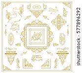 vector set of vintage elements... | Shutterstock .eps vector #577896292