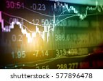 statistic graph of stock market ... | Shutterstock . vector #577896478
